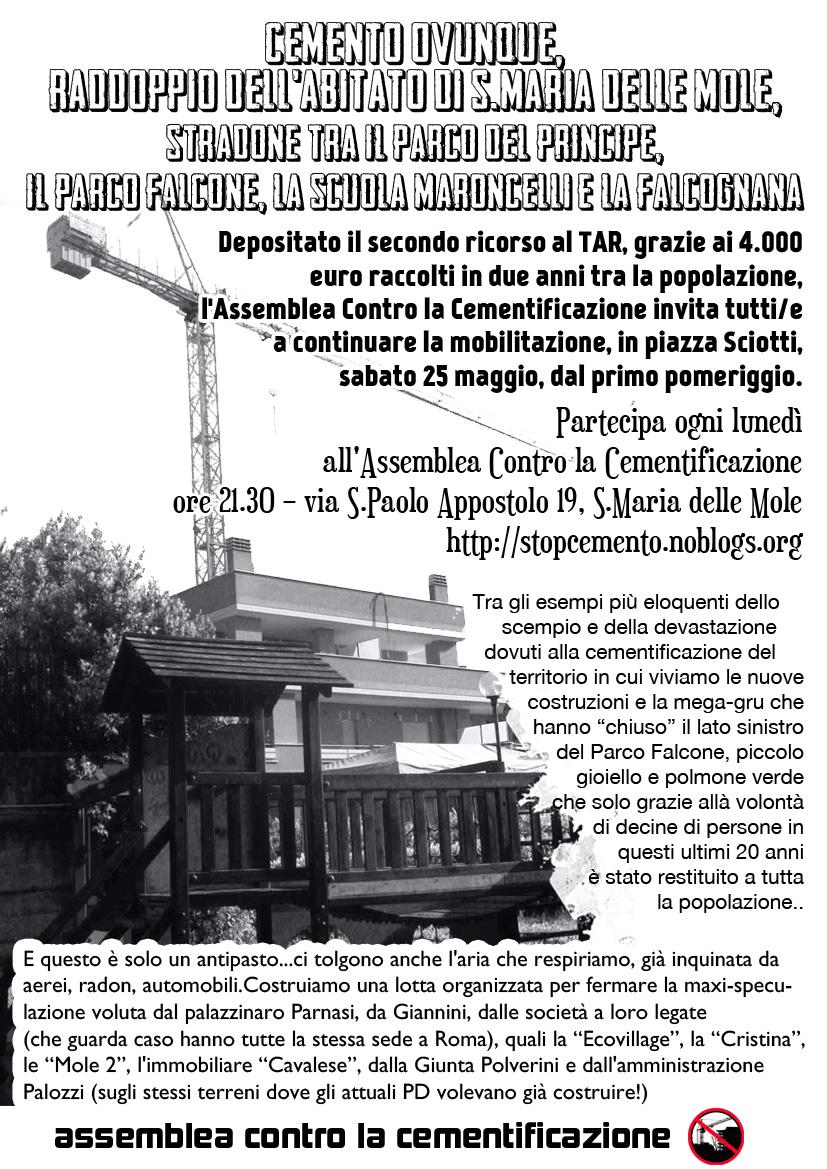 Sabato 25 maggio - Piazza Sciotti - ore 16.30 - Incontro Pubblico