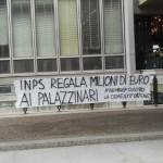 Presidio contro la cementificazione di S.Maria delle Mole, all'INPS, 30 aprile 2014