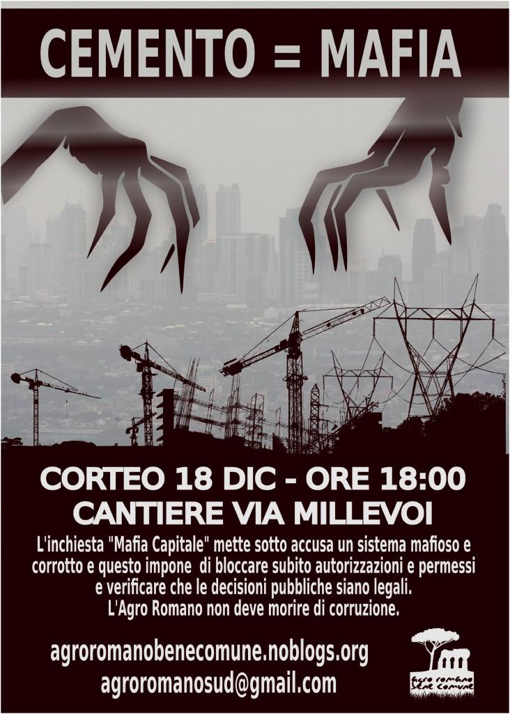 [5] Corteo 18 dicembre 2014 - contro le mafie del cemento - manifesto